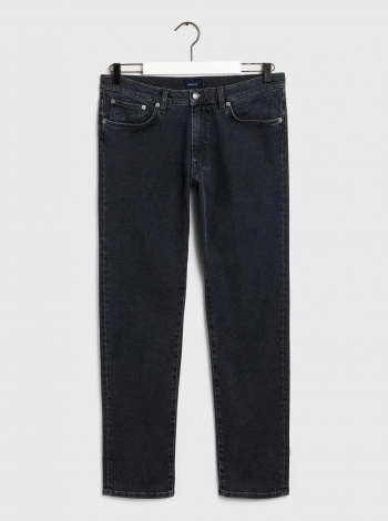 GANT Erkek Gri Slim Fit Denim Pantolon