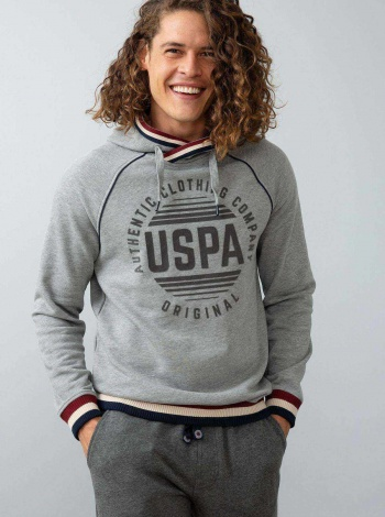 Us Polo Assn. Gri Regular Sweatshirt