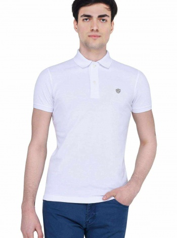 Lufian Erkek Slim Fit Armon Basic Polo T- Shirt Beyaz LF17SMKW92040002
