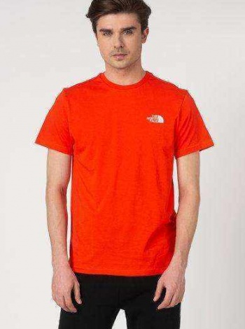 The North Face Simple Dome Tee Erkek Tişört  - Turuncu